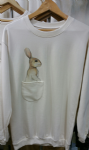 'Rabbit' with pocket unisex jumper